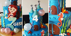 Little Mermaid Castle (adrianarosati) Tags: birthday castle cake mermaid cakedecorating adrianarosati