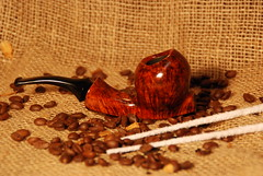 """STAND UP PIPE"" by Chiappani Hermes HFpipe (HFPIPE) Tags: italy stem hand pipe carving bamboo smoking made danish mano hermes briar pipa sandblast acrilic in fatta artigianali radica pipemaker a carnauba hfpipe chiappani"