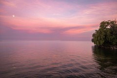 Lake Ontario Sunset (josullivan.59) Tags: 2016 canon6d june lakeontario mimico lake sunset water wallpaper weather 3exp evening etobicoke red reflection toronto ontario light landscape canonef24105mmf4lisusm canada nicelight nature magenta park urbannature