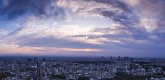 Tokyo Panorama (wymi_90) Tags: panorama tokyo japan nippon sky fuji cityscape city stadt travel reisen olympus raw