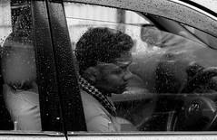 Through the drops (Shadman241091) Tags: drops rain glass driver car morning bnw street canon lonely chittagong bangladesh
