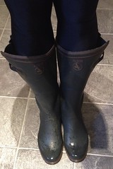 Aigle Parcours and Lycra Leggings (Hunter Wellies!!) Tags: