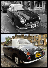Nissan Figaro in Chipping Campden (tmvissers) Tags: uk england car automobile nissan cotswolds highstreet figaro chipping campden