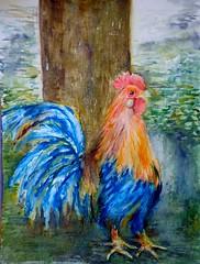 Gallo (benilder) Tags: gallo rooster coq acuarela aquarelle watercolor watercolour benilde