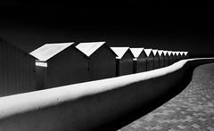 Cabines Cabourg (renécarrère) Tags: cabourg normandie littoral contrast noiretblanc elitegalleryaoi bestcapturesaoi aoi