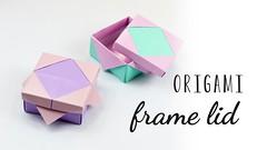 Origami Frame Lid Tutorial ♥︎ Photo Frame ♥︎ DIY (paperkawaii) Tags: origami instructions paperkawaii papercraft diy how video youtube tutorial