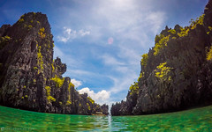 El Nido (chelodiaries) Tags: ocean road sea summer vacation sky food cloud dog sun mountain beach water beautiful clouds boats island boat sand place coconut philippines go places el hut snorkling pro nido coconuts hopping nipa palawan gopro