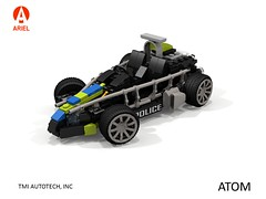 Ariel Atom - Police Community Vehicle (lego911) Tags: ariel atom 2014 2010s exoskeleton auto car moc model miniland lego lego911 ldd render cad povray uk england britain british sports sportscar police lugnuts challenge 104 thescienceofitall science element atomic foitsop