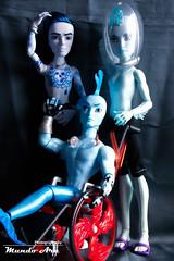 Blue Man Club (Osmundo Gois) Tags: finnegan wake finn billy invisi invisibilly gil gillington webber monster high blue male men man doll toy boy club azul