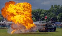 Quick reaction #2 (Clive1945) Tags: ashdowncamp d7100 blast fire army armouredvehicle alvis pyrotechnic