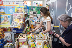 (ziemowit.maj) Tags: old food shopping young poland warsaw groceries abundance shoppers biedronka ef28mmf18 canon5dmkiii supermarketcheckout