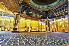 KUWAIT GRAND MOSQUE-5 (jawadn_99) Tags: explore interrestingness mosque masjid grand city kuwait hall architecture islamic gold guilded blue islamiccaligraphy coth5 yellow caligraphy art building great monoment photography scout supershot poster flickr colot pillars dome engineering