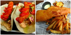 Fish Taco and Fish and Chips, Watermark Irish Pub, Harbourfront, Toronto, ON (Snuffy) Tags: food toronto ontario canada harbourfront queensquay watermarkirishpub