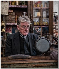 It must be Monday (Hugh Stanton) Tags: vintage counter beamish era motor trade cupboard shopkeeper