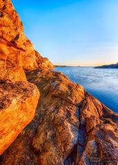 The rock (johanbe) Tags: hdr vstkusten westcoast bohusln marstrand kon kunglv sverige sweden hav klippor himmel eftermiddag kvll solnedgng sunset rock cliffs sea landscape seascape nikon