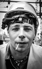 Michal (Ryekatcher) Tags: portrait people industry face work industrial helmet worker manual laborer operative