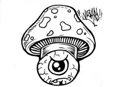 graffiti sticker cone eye (marcomacedo3) Tags: cholowiz wizards graffiti characters stickers collabs slaps nazer26 mtsk skulls clowns street art paste trade cartoons labels sketch spray can