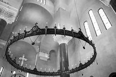Church of Saint Mark (ezgicibali) Tags: blackandwhite bw church monochrome saint architecture circle candles cross serbia ngc churches belgrade