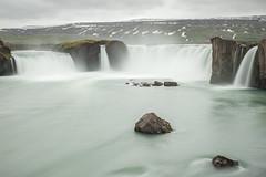 Goafoss (GrandJr) Tags: longexposure blue water landscape 50mm waterfall iceland nikon rocks europe outdoor 14 ngc nd fx d3 ais hoya izland nd1000 grandjr