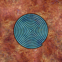spiral (chrisinplymouth) Tags: spirality art pattern design spiral image whorl coil abstract cw69x artwork square digitalart symmetry cw69sym curl symbol rust geometric geometry cw69spiral emd