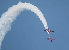 QIAS 2016 - Arc-de-Smoke-en-Ciel... and Fire in the Sky! (Jay:Dee) Tags: 2016 qias quinte international air show airshow cfb canadian forces base trenton aviation aircraft airplane military jet trainer snowbirds 431 demonstration squadron aerobatics ct114 canadair tutor