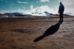 shadow and geysir (AnneTheke) Tags: shadow clouds iceland sillouette geysir