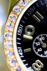 Waiting for 10 (JebbiePix) Tags: macro diamonds gold watch jewelry number timepiece wristwatch accessory