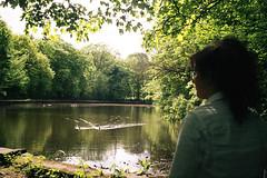 Reflections (thomas.drezet) Tags: trip summer sun colour reflection film birds lomo lomography pond warm ducks olympus ishootfilm negative 200 vista agfa 35   filmisnotdead