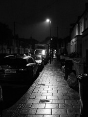 The Road Path (MJ Taylor) Tags: road nightphotography london path streetphotography mysterious lightandshadow blackandwhitephotography londonreconnected mjtaylorphotography