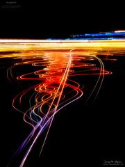 Dibujando con la Ciudad (Abstraccin XIX) (diegogm.es) Tags: city night noche bokeh ciudad olympus omd abstraccion em5 livecomposite livecomp