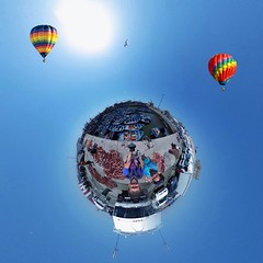 Essaouara harbour tiny planet (PaulHoo) Tags: marocco maroc 360degree tiny planet air sky clouds sun summer 2016 circular world miniworld globe essaouira