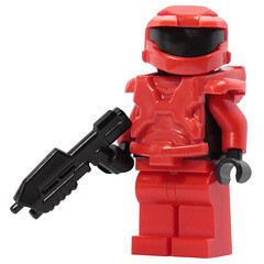 Mark 5 Figure! - Red (X39BrickCustoms .com) Tags: lego brick mark 5 new armor halo space marine x39brickcustoms brickarms legos production red vs blue minifigures minifigs