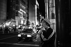 Watching. (MichelleSimonJadaJana) Tags: street bw white black japan digital 35mm photography tokyo fuji documentary lifestyle snaps  fujifilm  f2 fujinon 23mm x100s