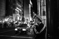Watching. (MichelleSimonJadaJana) Tags: street bw white black japan digital 35mm photography tokyo fuji documentary lifestyle snaps  fujifilm  f2 fujinon 23mm x100s