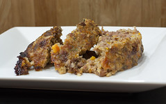 Bacon Meatloaf (_Hoot) Tags: recipe milk bacon beef raisins pork butter carrot garlic eggs onion parsley oats celery meatloaf