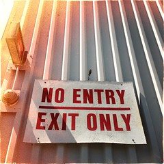no ___ exit ___ (throgers) Tags: sanfrancisco california noflash guesswheresf unfoundinsf gwsf hipstamatic janelens dixiefilm