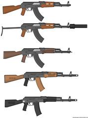 Some AK'S (Crimson Thunder- TexHellhound) Tags: ak custom 47 pmg aks ak74 akm ak101 myweapon pimpmygun doctornoob kalaschnikowa awtomat modernisirowanny skladnoj