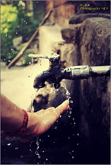 Washing hand. (soumen19xx) Tags: trip travel people india color water closeup fauna digital photoshop canon geotagged photography eos yahoo droplets google focus asia moments dof natural photos outdoor candid creative 1855mm t3 tap tone cs3 stillphotography 1100d
