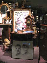 Same Antique Store at Night (Robb Wilson) Tags: startrek glendale sketching antiques leonardnimoy antiquestore captainkirk williamshatner classiccarshow misterspock