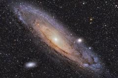 Andromeda Galaxy (M31) and Companions  (M110 and M32) (ajynrynn) Tags: astrometrydotnet:version=14400 astrometrydotnet:id=alpha20130546062195 astrometrydotnet:status=solved andromeda galaxy m31 sv85s m32 m110 canon astronomy astrophotography space star sky night dslr telescope astrophoto longexposure washington ellensburg