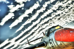 phantom (William Greenfield) Tags: sky cloud plane vampire aircraft number 51 hdr