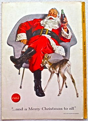 1956 Santa Claus 1950s Vintage Coca Cola Advertisement From National Geographic Back Page 21 (Christian Montone) Tags: vintage ads advertising coke americana soda cocacola advertisements sodapop vintageads vintageadvert