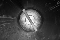 light at the end of the pipe (Andreas Hagman) Tags: blackandwhite bw abstract monochrome contrast industrial tube pipe handheld symmetric centered lightattheendofthetunnel sigma1020mm ultrawideangle sonyalphaslta77