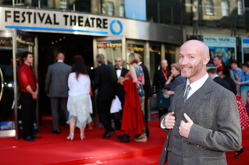Craig Hill arriving at the European premiere of Breathe In at Festival Theatre