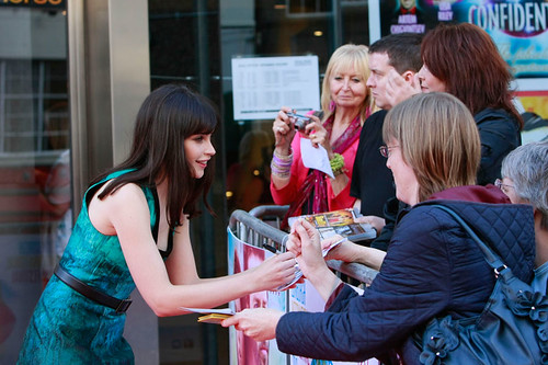 Felicity Jones arriving at the European premiere of Breathe In at Festival Theatre