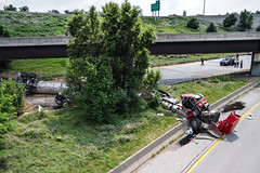 Fatal Accident in Rochester, NY (-dangler) Tags: summer rescue ny history dan brighton crash accident police tragedy disaster killed tanker nys fatal rochesterny truckers tractortrailer monroecounty 490 dangler 590 2013 dandangler