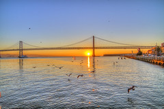 Bay Bridge Sunrise (Señor Codo) Tags: sanfrancisco california morning sunrise baybridge embarcadero clearsky codophoto chrisdiersphotography