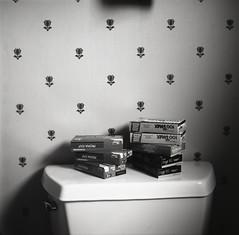 (Josh Sinn) Tags: wallpaper blackandwhite bw 120 6x6 film mediumformat bathroom md kodak tmax maryland toilet boxes 100 howardcounty ellicottcity yashicamat124g fujiprovia100f hoco kodakportra160 kodakektar100 joshsinn joshuasinn