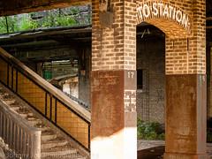 P1010189 (ArchitecturalAfterlife) Tags: urban newyork bus green abandoned church station train buffalo peeling paint decay piano exploration disrepair urbex johnnyjoo johnnyjoophotography