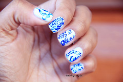Unha Azulejo Português (siça ramos) Tags: look blog imagens fotografia unhadecorada unhasdasemana unhasnailart estilopropriobysir